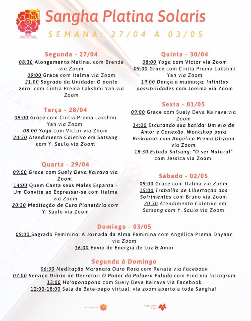 agenda semana 27abr